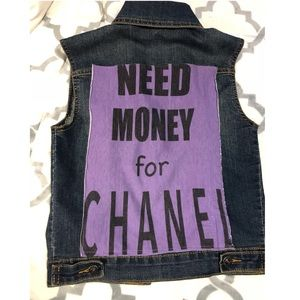 Other - Need Money for Chanel girls XL denim vest